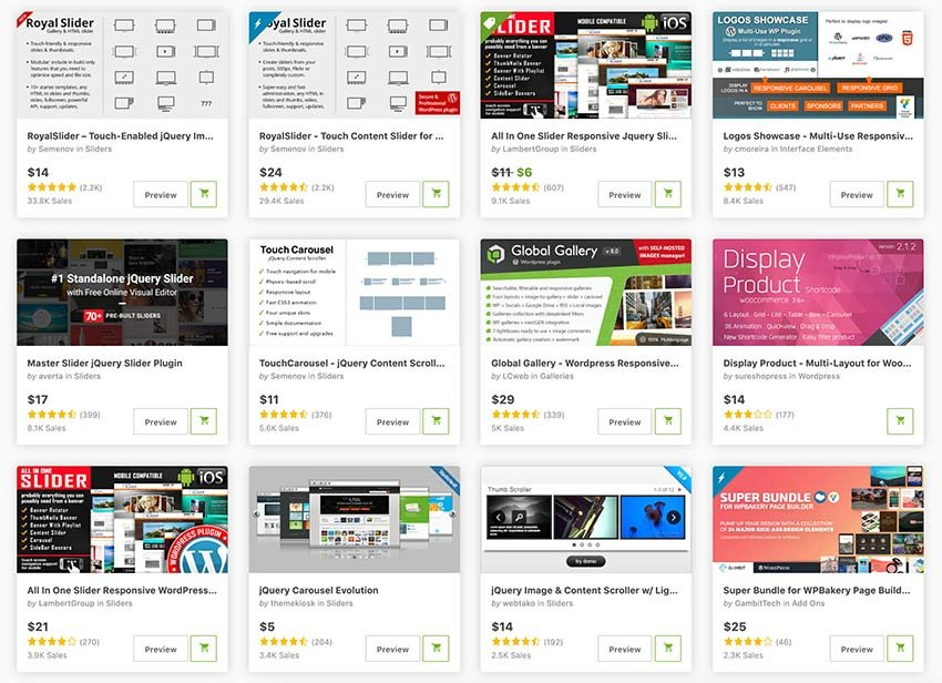 Get the best HTML5 sliders for your website from CodeCanyon.