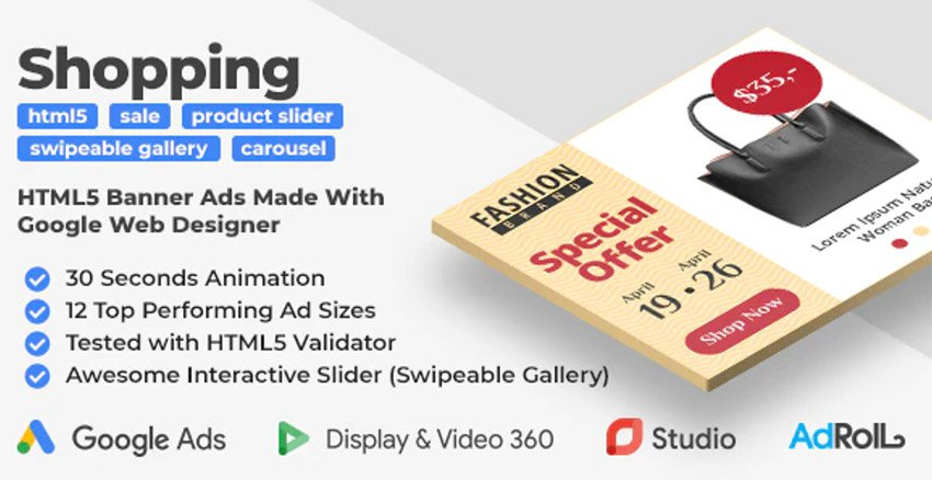 Shopping Banners with Photo Slider HTML5