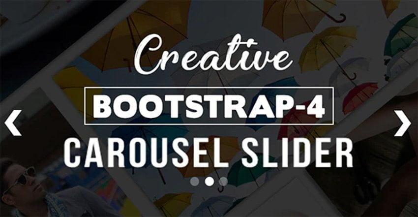 Creative BS-4 Carousel HTML Slider