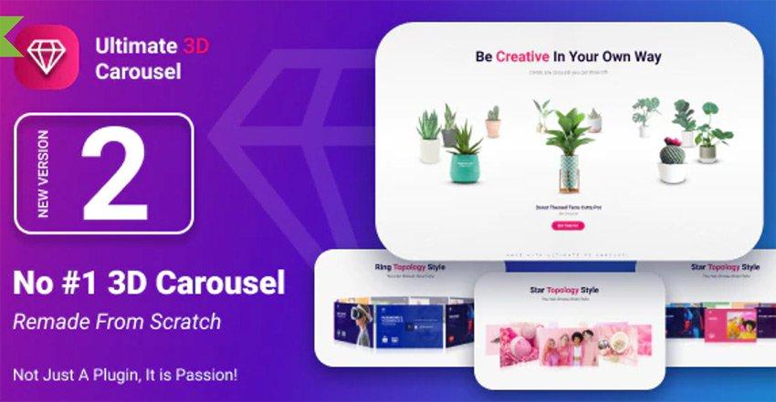 Ultimate 3D Carousel HTML5 Photo Slider